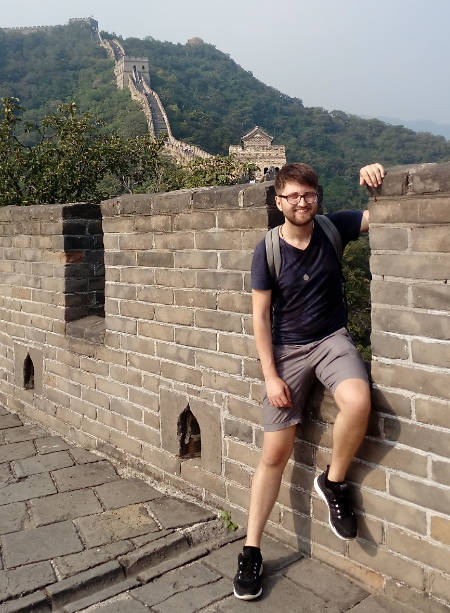 Michail Kosak at the Great Wall