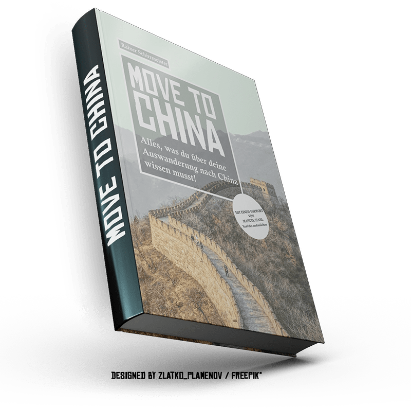Move to China book mockup by Rainer Schirrmeister